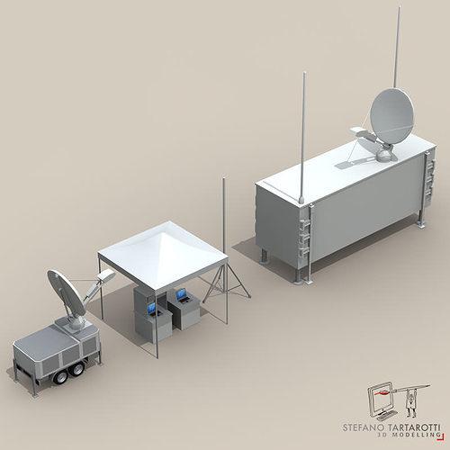 uav ground control stations 3d model obj mtl 3ds fbx c4d dxf dae 1