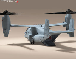 V-22 Osprey US Marines 3D Model