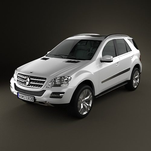Mercedes benz ml class 3d model cgtrader for Mercedes benz suv models list