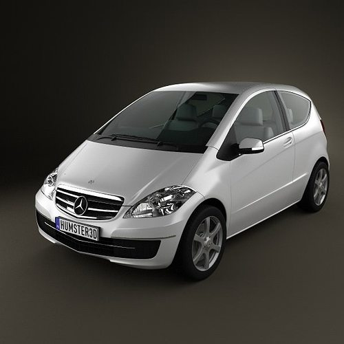 mercedes benz a class w169 coupe 3d cgtrader. Black Bedroom Furniture Sets. Home Design Ideas
