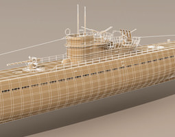 3d type ix u-boat submarine