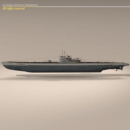 type ix u-boat submarine 3d model max obj 3ds fbx c4d dxf 5