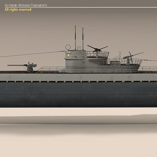 type ix u-boat submarine 3d model max obj 3ds fbx c4d dxf 10