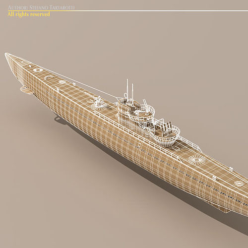 type ix u-boat submarine 3d model max obj 3ds fbx c4d dxf 6