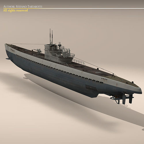 type ix u-boat submarine 3d model max obj 3ds fbx c4d dxf 4