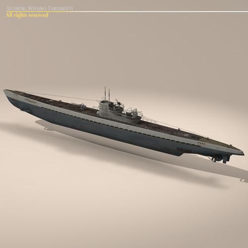 type ix u-boat submarine 3d model max 3ds fbx c4d dxf mtl 12