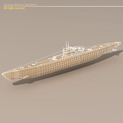 type ix u-boat submarine 3d model max 3ds fbx c4d dxf mtl 7