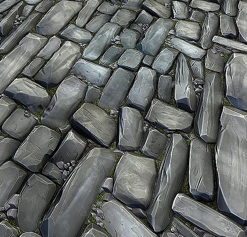 3D model Stone Floor Texture Pack VR / AR / low-poly OBJ FBX ...