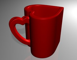 3D print model Heart CUP