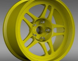 Chevrolet Camaro GS Racecar 2008 rim 3D model