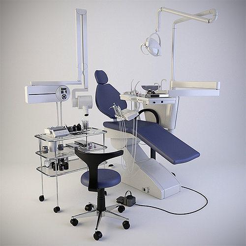 stomatologic equipment 3d model max obj fbx mtl 1