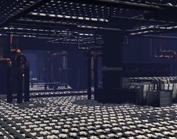 scifi lab 3d model