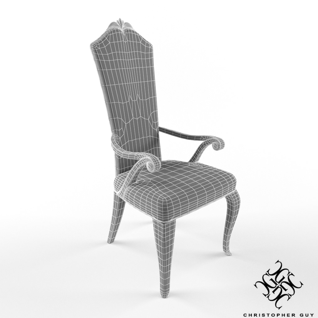 ... Christopher Guy Victoria Chair 3d Model Max 5