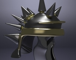 3d midieval spiked helm