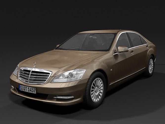 2010 mercedes benz s class 3d model max obj 3ds fbx c4d lwo lw lws 1