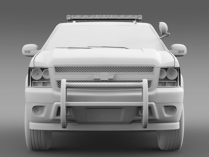 2014 chevy tahoe police car 3d model chevrolet tahoe police cgtrader