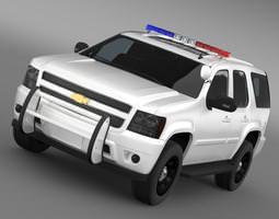 chevrolet tahoe police 3d model max 3ds fbx c4d lwo lw lws ma mb