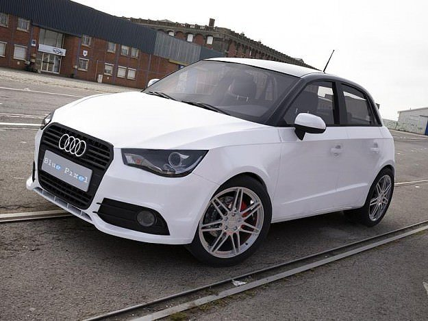 3d audi a1 sportback white cgtrader. Black Bedroom Furniture Sets. Home Design Ideas