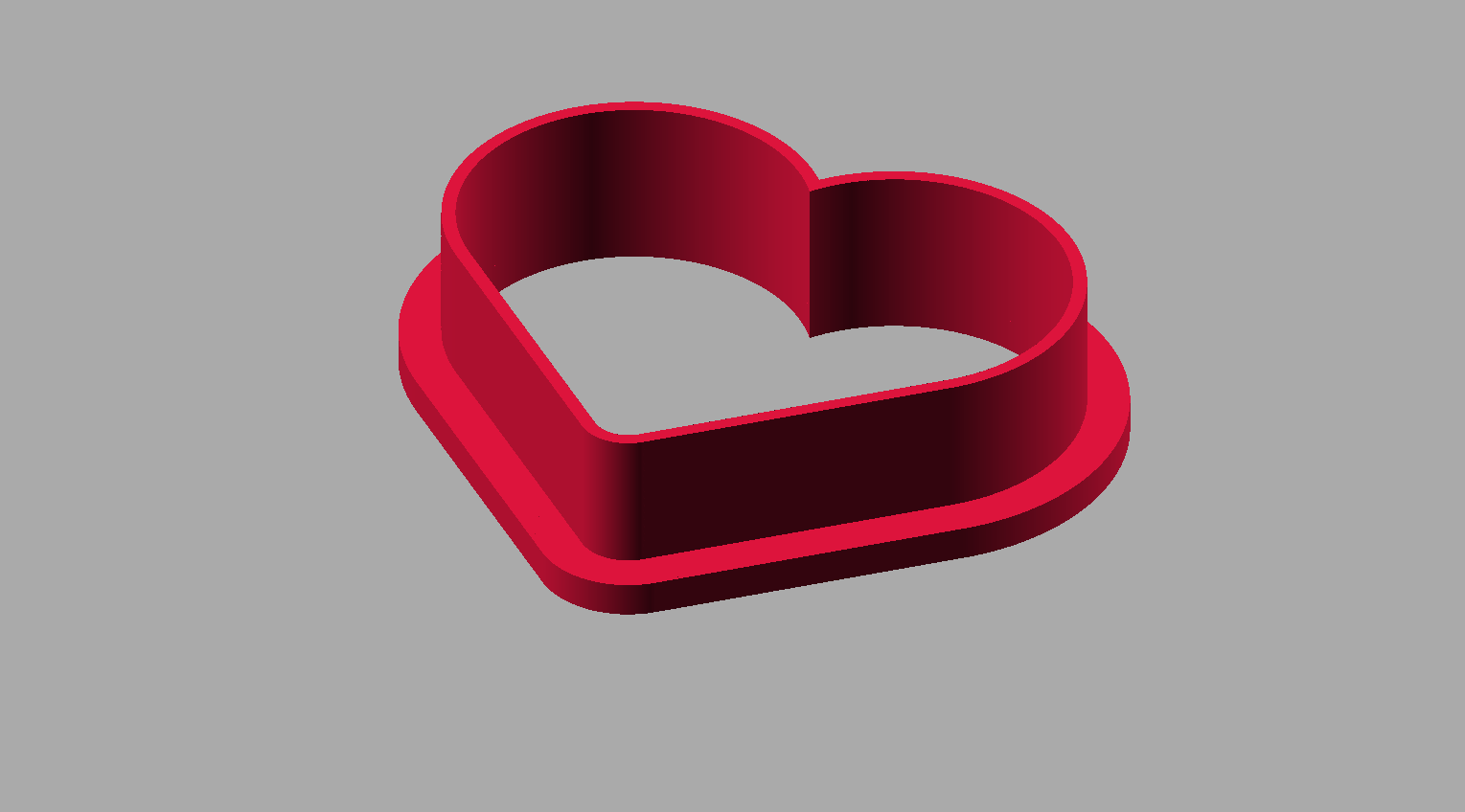 Heart Cookie Cutter Free 3D Model 3D Printable STL