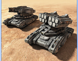 3D asset SciFi Army Ground Units 02
