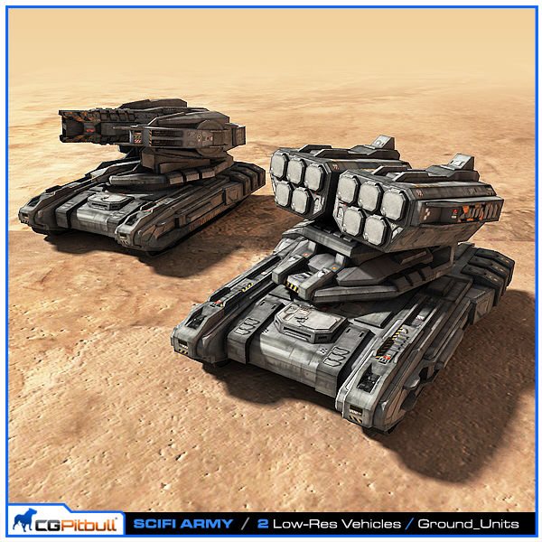 SciFi Army Ground Units 02