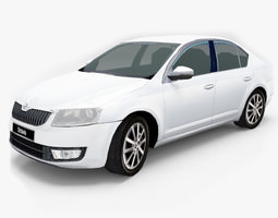 Skoda Octavia 2013 3D model low-poly