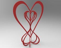 3d print model hearts around the world