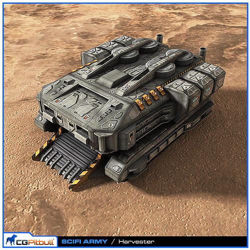 scifi army harvester 3d model max obj mtl fbx 1