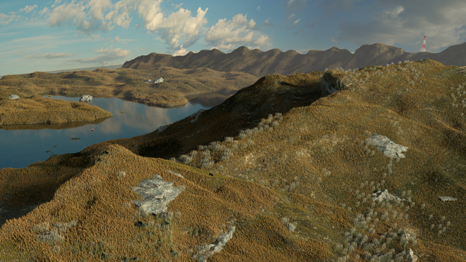 mountains 3d model cgtrader