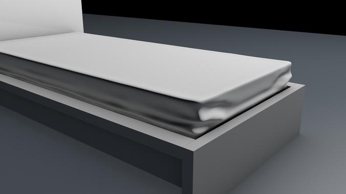 Modern Bed 3D Model obj c4d CGTradercom