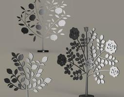 Metallic Tree Ornament 3D