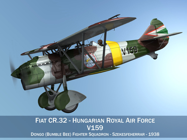 Fiat CR 32 - Hungarian Royal Air Force - V159 | 3D model