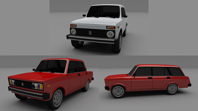 lada pack 3d model obj mtl blend dae 1