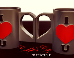 couple s cup 3d print model
