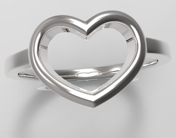 heart ring 3d model max obj stl