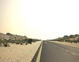 3D model desert road