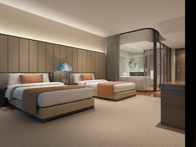 3d model modern hotel room cgtrader for Modern hotel