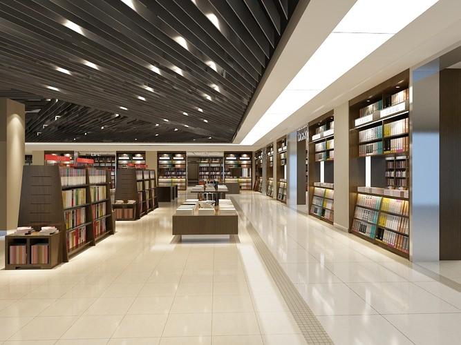 Modern Bookstore 3d Model Max Obj Fbx Mtl