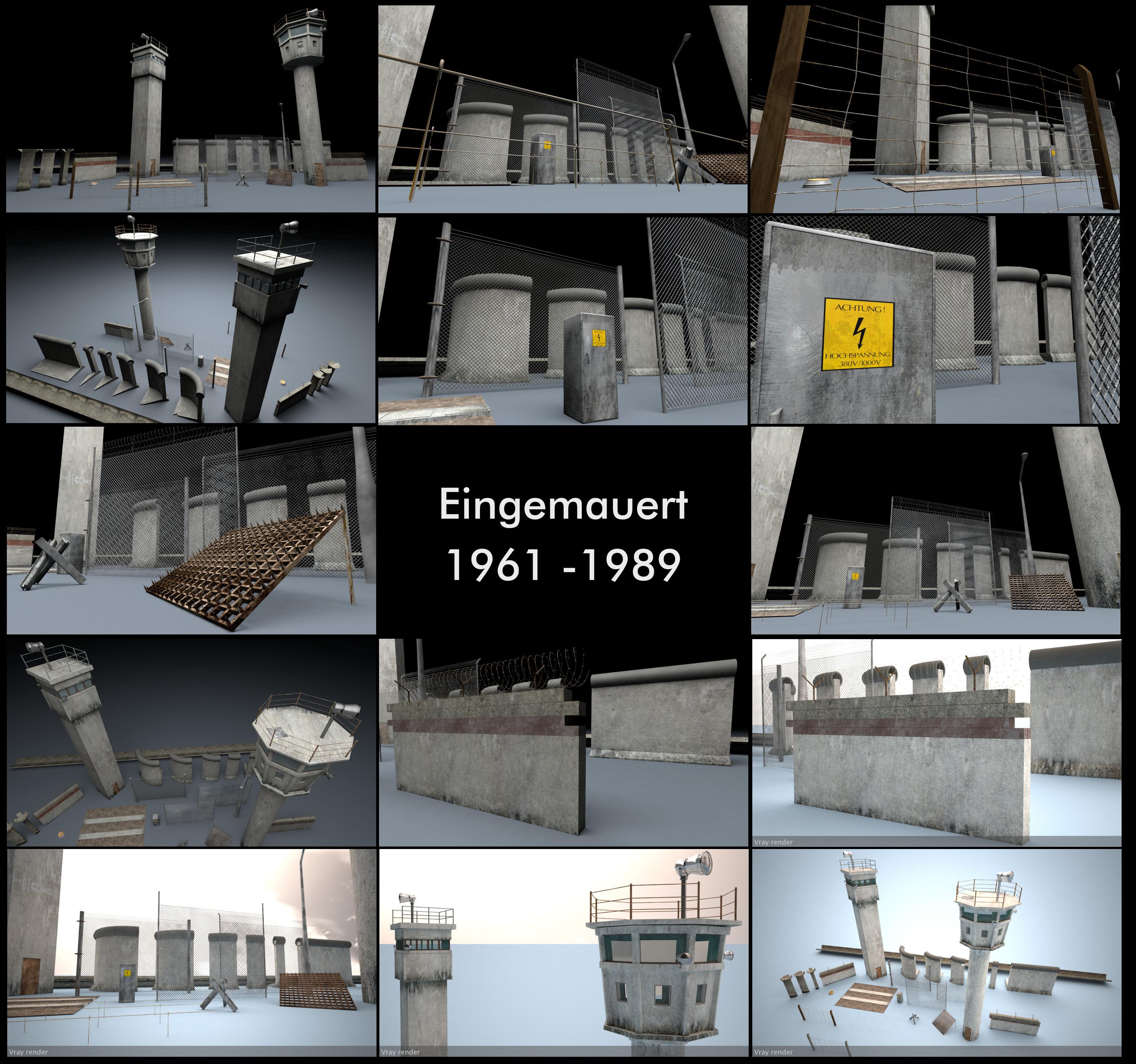 Berlin Wall 3D Model Package