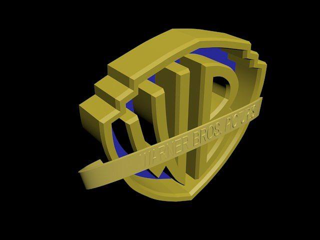 warner bros logo 3d model max 3ds mtl 4