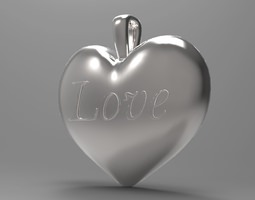 Heart Love pendant 3D Model