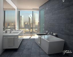 furnishing Bathroom 3D model