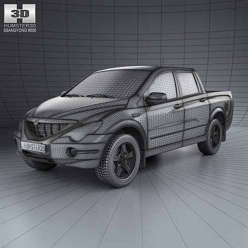 Ssangyong Actyon Sports 2006 3d Cgtrader
