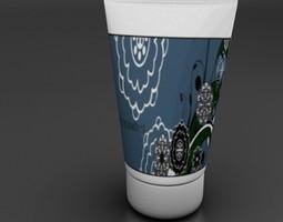 3D model bath cream tube