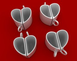 3D print model Heart mugs