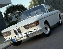 bmw 2000 cs 1967 animated 3d model
