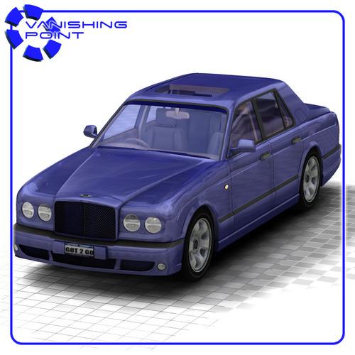 Bentley Arnage For Poser 3d Model Rigged Pz3 Pp2