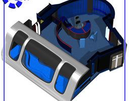 starship ready room for poser 3d model rigged