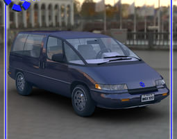 Family Minivan for Vue 3D model