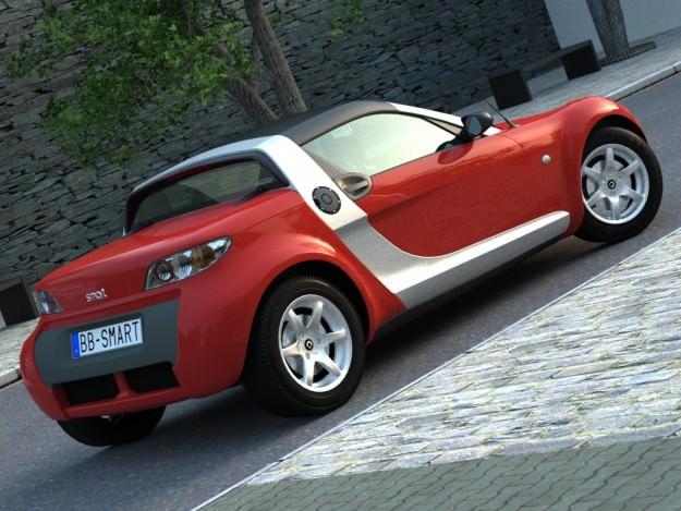 smart roadster 2007 3d model animated rigged max obj 3ds. Black Bedroom Furniture Sets. Home Design Ideas